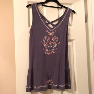 Tops - Entro Embroidered Tank Top